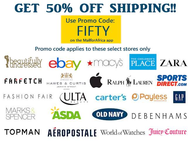 50% off selected sites with coupon code FIFTY